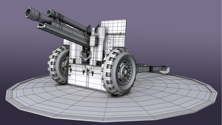 Howitzer M105 3D Model