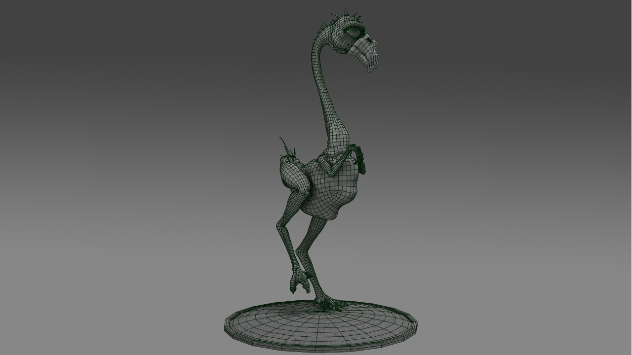 Prehistoric Flamingo 3d Model