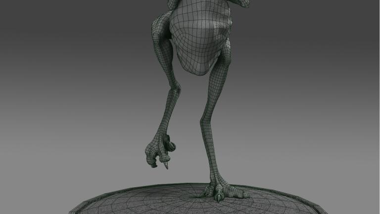 Prehistoric Flamingo 3d Model